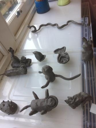 RichCloud art class clay figures