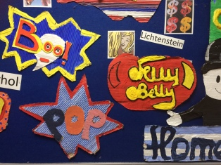 Helens pop art work display